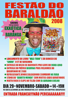 Cartaz da festa de Marcio Baraldi