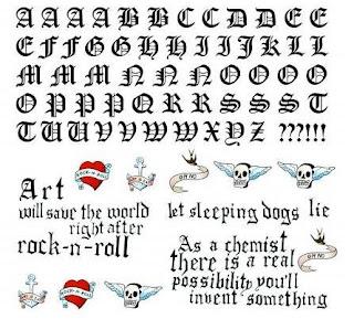 Letras Góticas para tatuagem