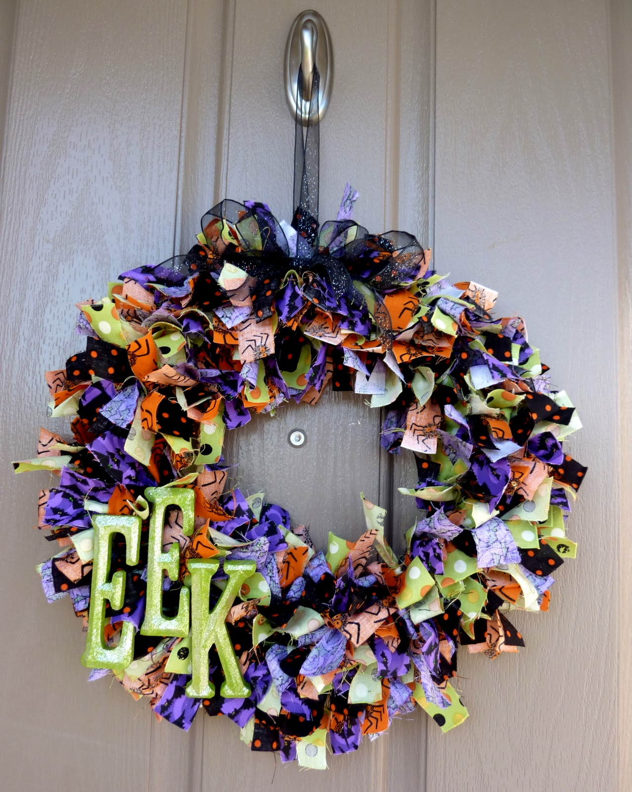 Sassy sanctuary halloween rag wreath Making wreaths