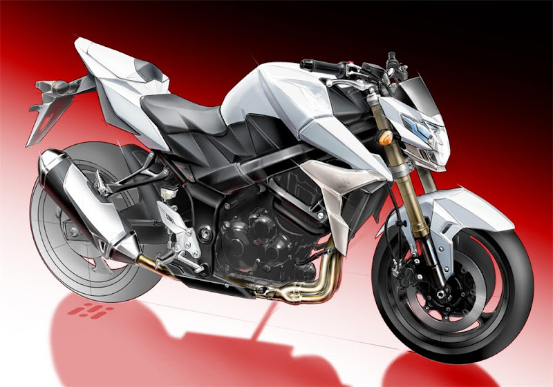 2011 Suzuki GSR750 Teaser concept Sketch
