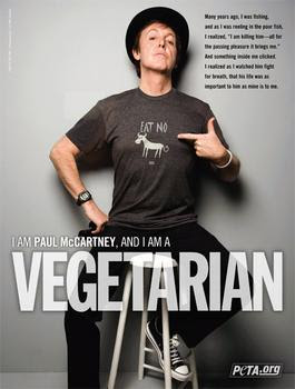 paul mccartney, national vegetarian program
