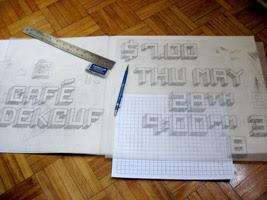 Square Font Photo