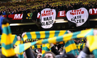 Green and Gold Stretford End Flags