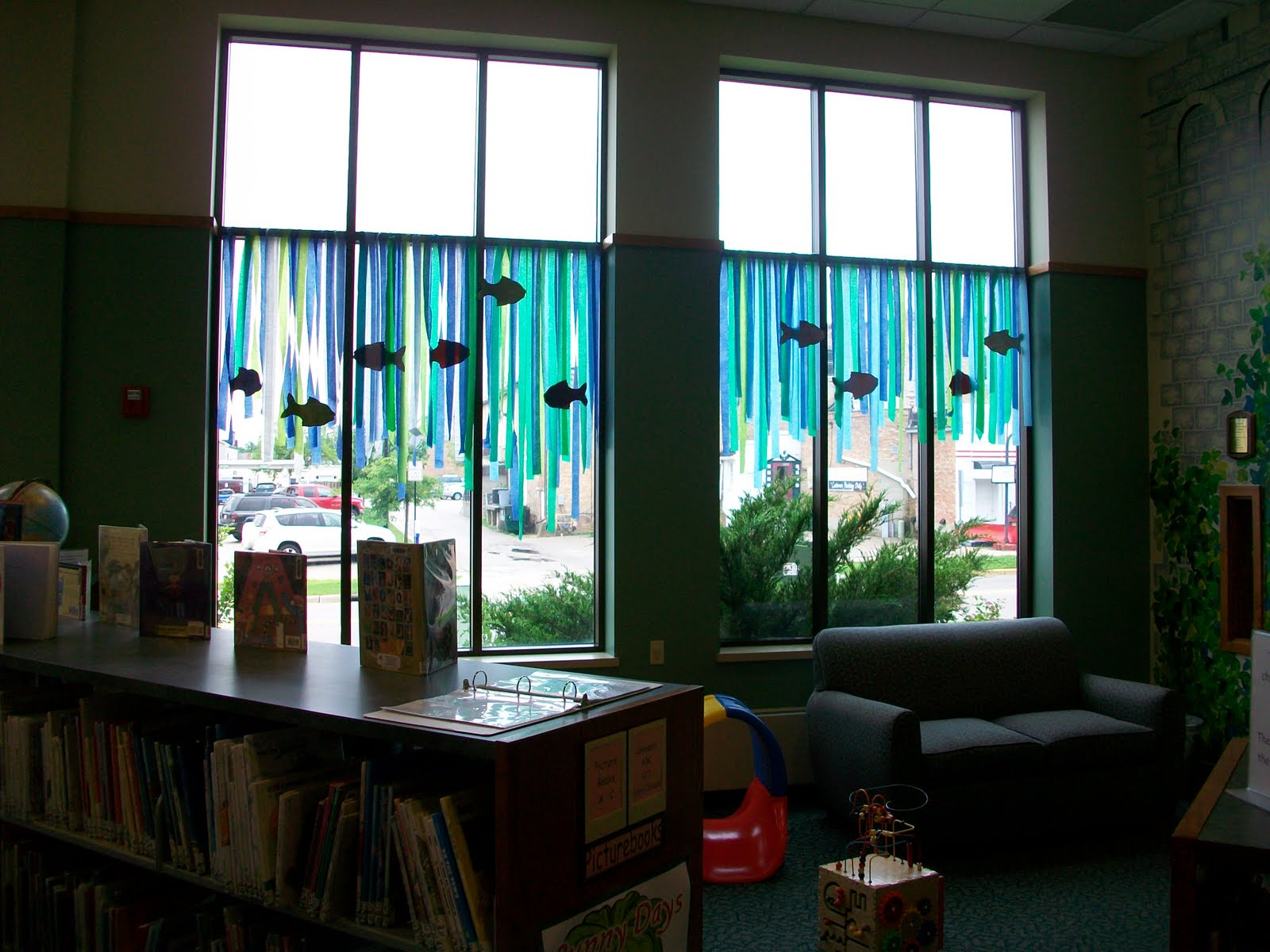 Window Decoration Ideas For Classroom ~ Jean little library summer reading decorations