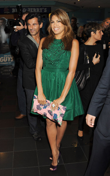 Eva Mendes in a Cute Green Dress... Eva Mendes attended 'The Other