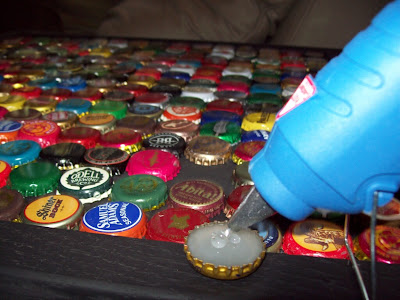 We Got Lucky That The Inside Of The Table Area Was 15 Bottle Caps Square.  Thus, We Had 225 Caps On Our Table. Bottle Caps That Were Not Twist Off  Sometimes ...