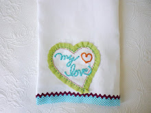 Sweet guest and kitchen towels