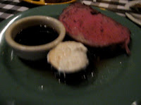 Click to enlarge - Rare prime rib with jus