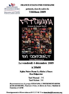 Fitiavana Gospel Choir en concert pour le téléthon 2009