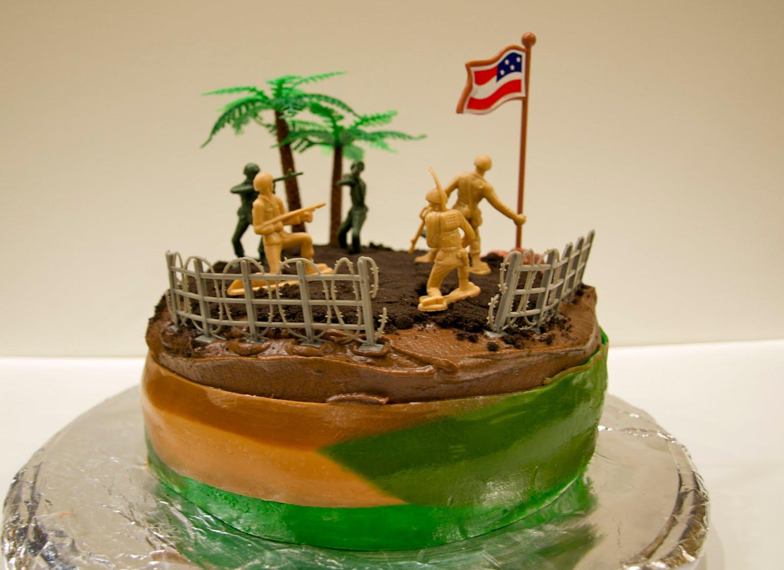 Kates Cakes: Army Boys Birthday Cake