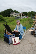 Painting en plein air at the Marsh