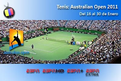 DOM 16/01: Abierto de Australia, en Directo y en Exclusiva por ESPN y Directv