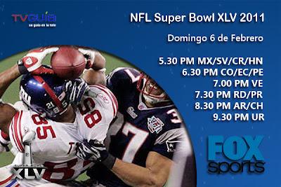 DOM 06/FEB: Super Bowl 45, en vivo por FOX Sports y Fox Sports HD