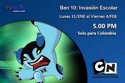 Ben 10 invasión Escolar, esta semana en Cartoon Network