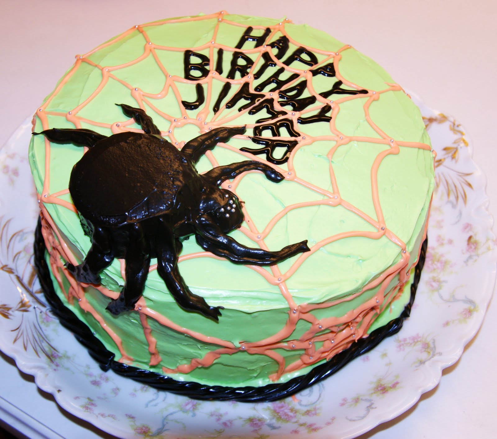Feeding Frenzy Spider Cake
