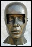 casque de scaphandre ronde bosse visage masculin en Armure