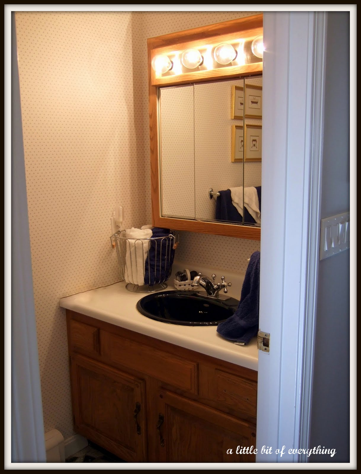A little bit of everything homemaking remodeling half for Half bath remodel ideas