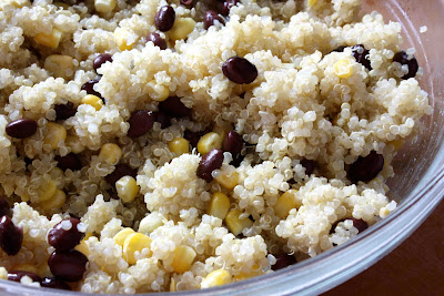 Quinoa with Black Beans, Corn & Chipotle Pepper, Lime & Honey Dressin...