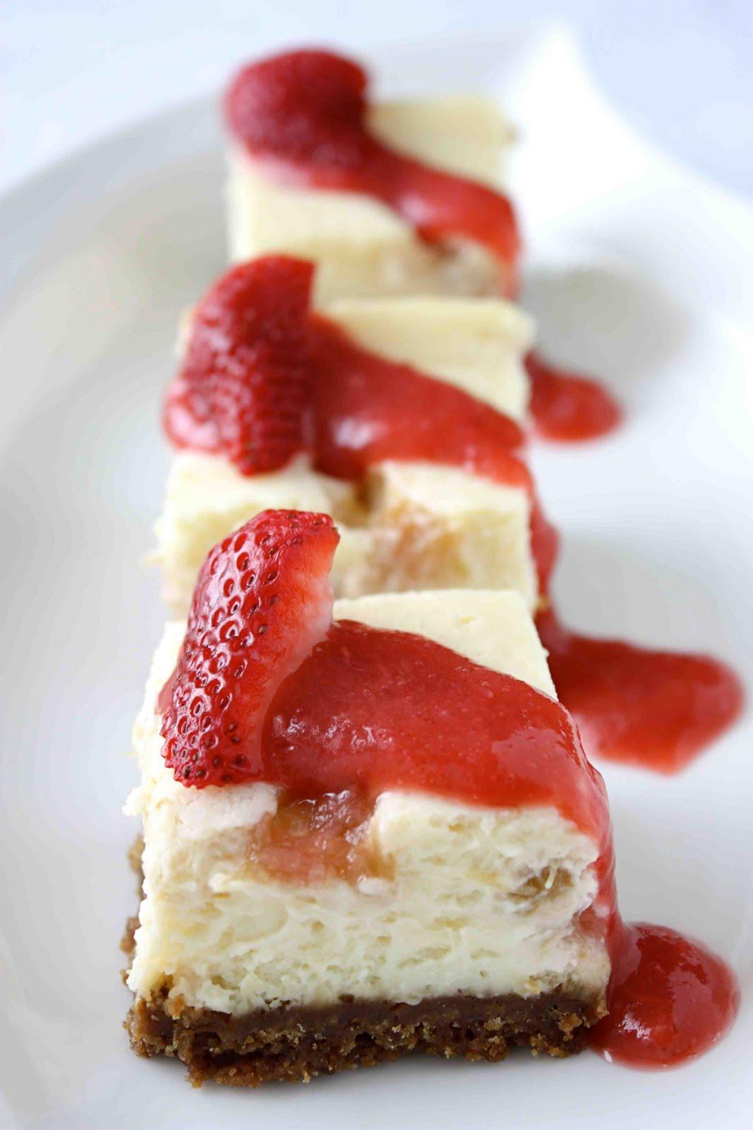 Rhubarb Fridge Cheesecake