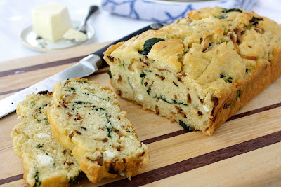 ... ' Canuck | Caramelized Onion & Spinach Olive Oil Quick Bread Recipe