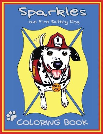 Celebrating the release of Sparkles the Fire Safety Dog Coloring Book
