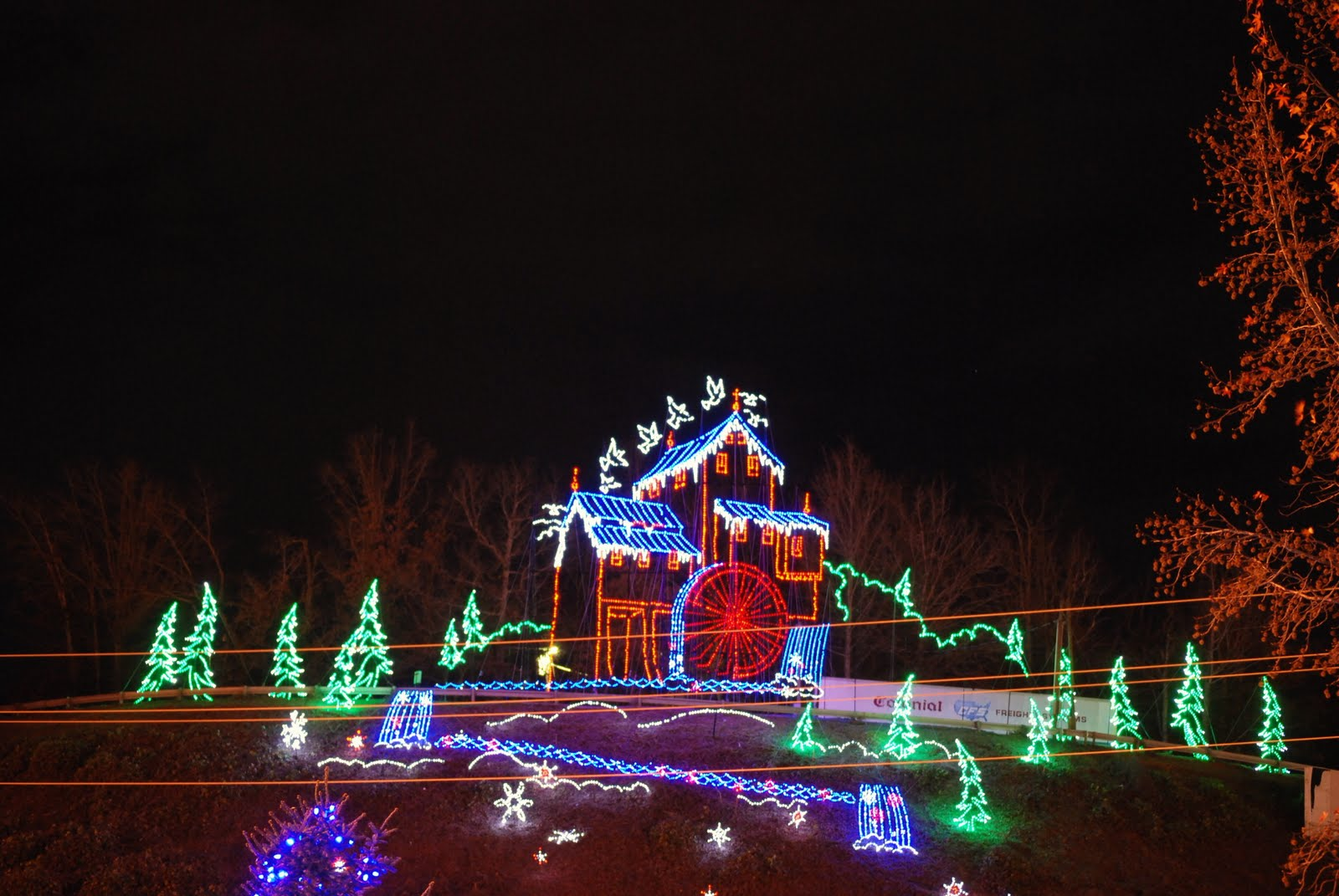 Christmas Lights In Pigeon Forge