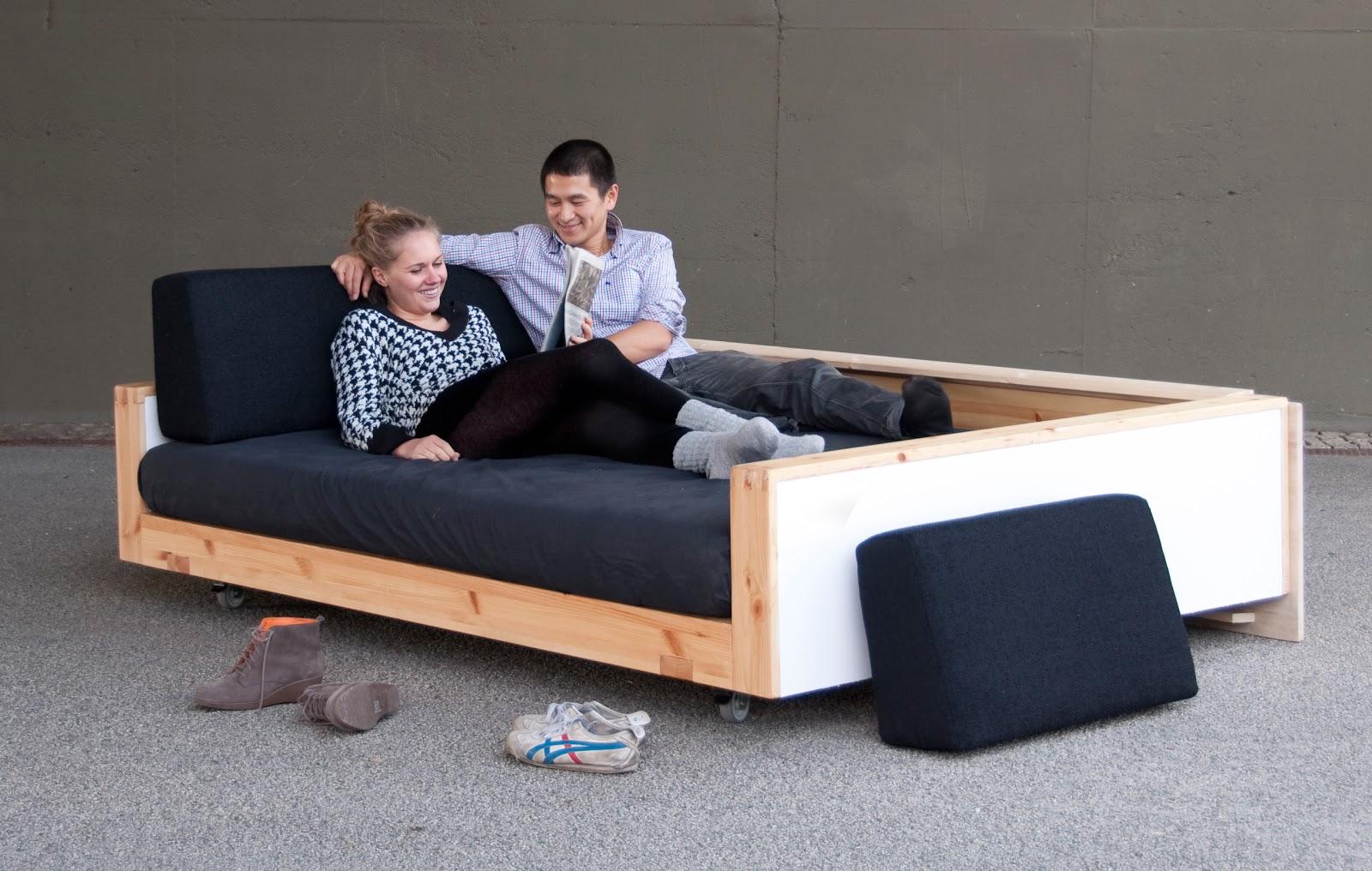 siwo sofa ist tags252ber couch abends bett fotos daniela kleint - Sofa Selbst Bauen