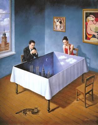 illusions in art. The art of Rafal Olbinski has