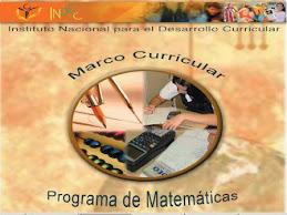 MARCO CURRICULAR Programa de Matemáticas