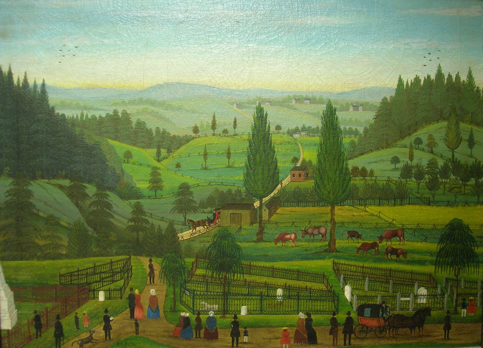 american folk art cooperstown revelations in a cemetery
