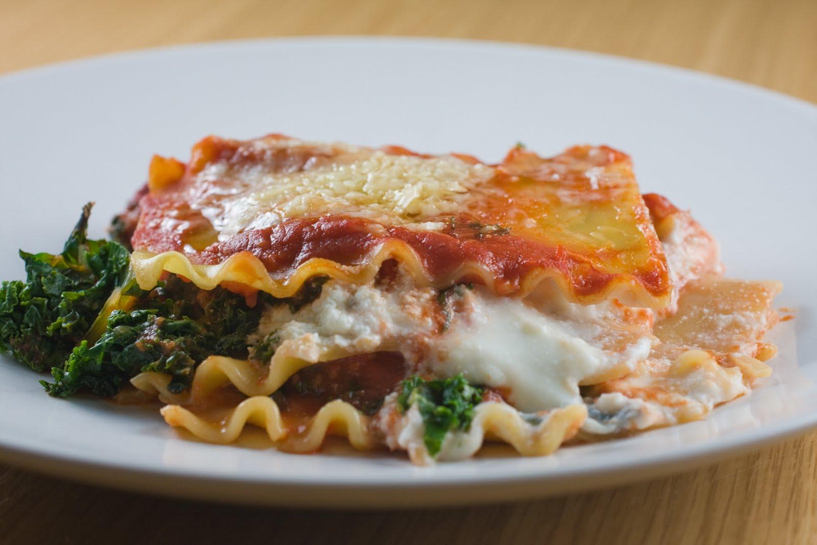 JUST VEGGING OUT: Kale Lasagna Diavolo