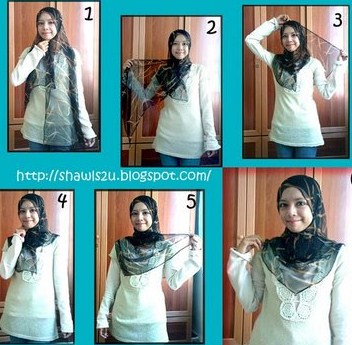alangkah happy nye kalau aku dapat pakai tudung shawl