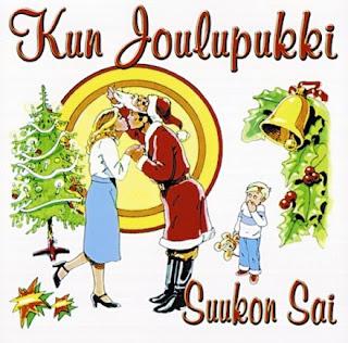 Joulukalenteri -09 Suukko+joulupukki