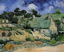 Vincent Van Gogh, Caseríos con tejado de paja en Cordeville
