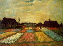 Vincent Van Gogh, Campo de tulipanes