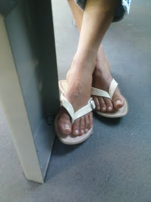 Public Transports Feet Slender Feet With Long Toes