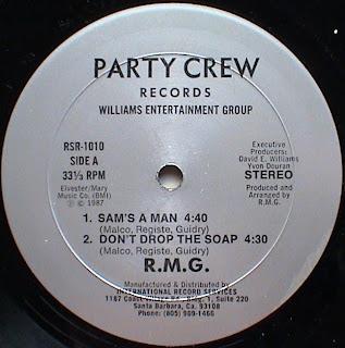 R.M.G. - Sam's A Man & Don't Drop The Soap (Vinyl, 12'' 1987)(Party Crew Records)