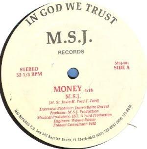 M.S.J - Money (Vinyl, 12'' 1987)(M.S.J Recoeds)