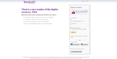 Internet: Yahoo Login with Facebook and Google