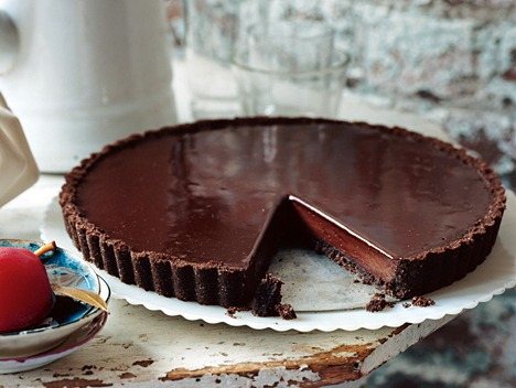 ... Chocolate Glazed Chocolate Tart - The Best Pie and Tart Recipes on