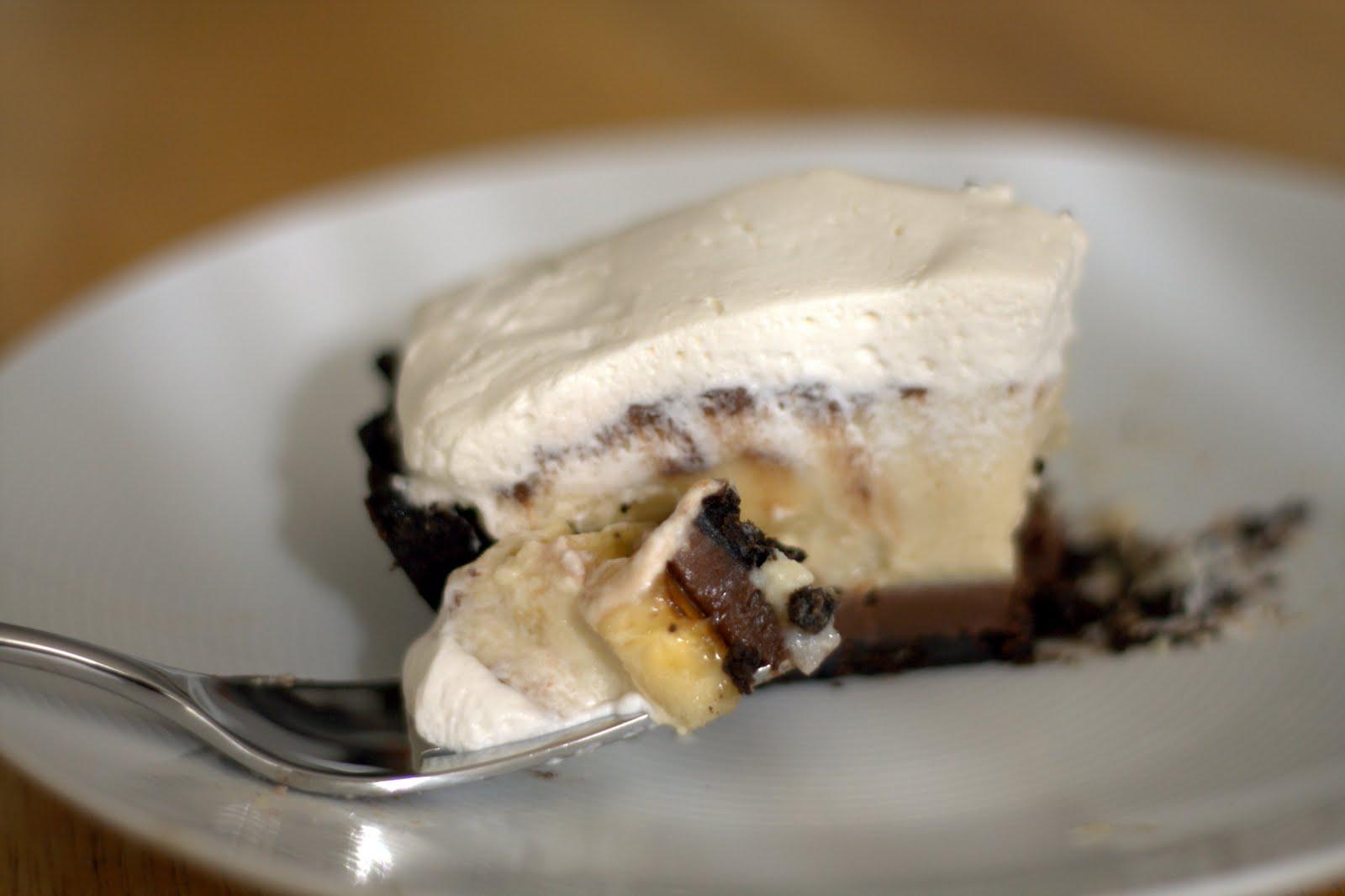 Black Bottom Banana Cream Pie — banana , chocolate , cream pie ...