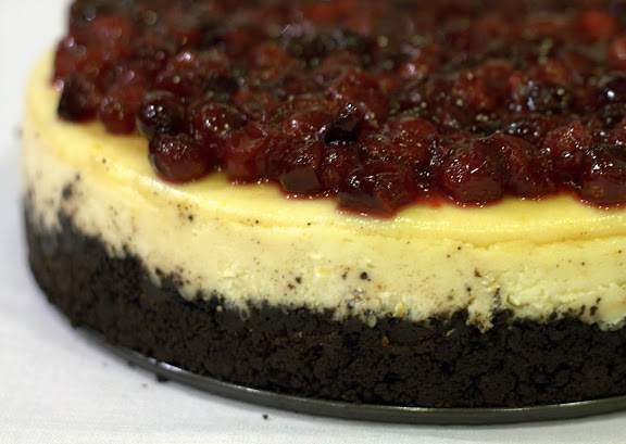 Cranberry Orange Cheesecake with Chocolate Crust — cheesecake ...