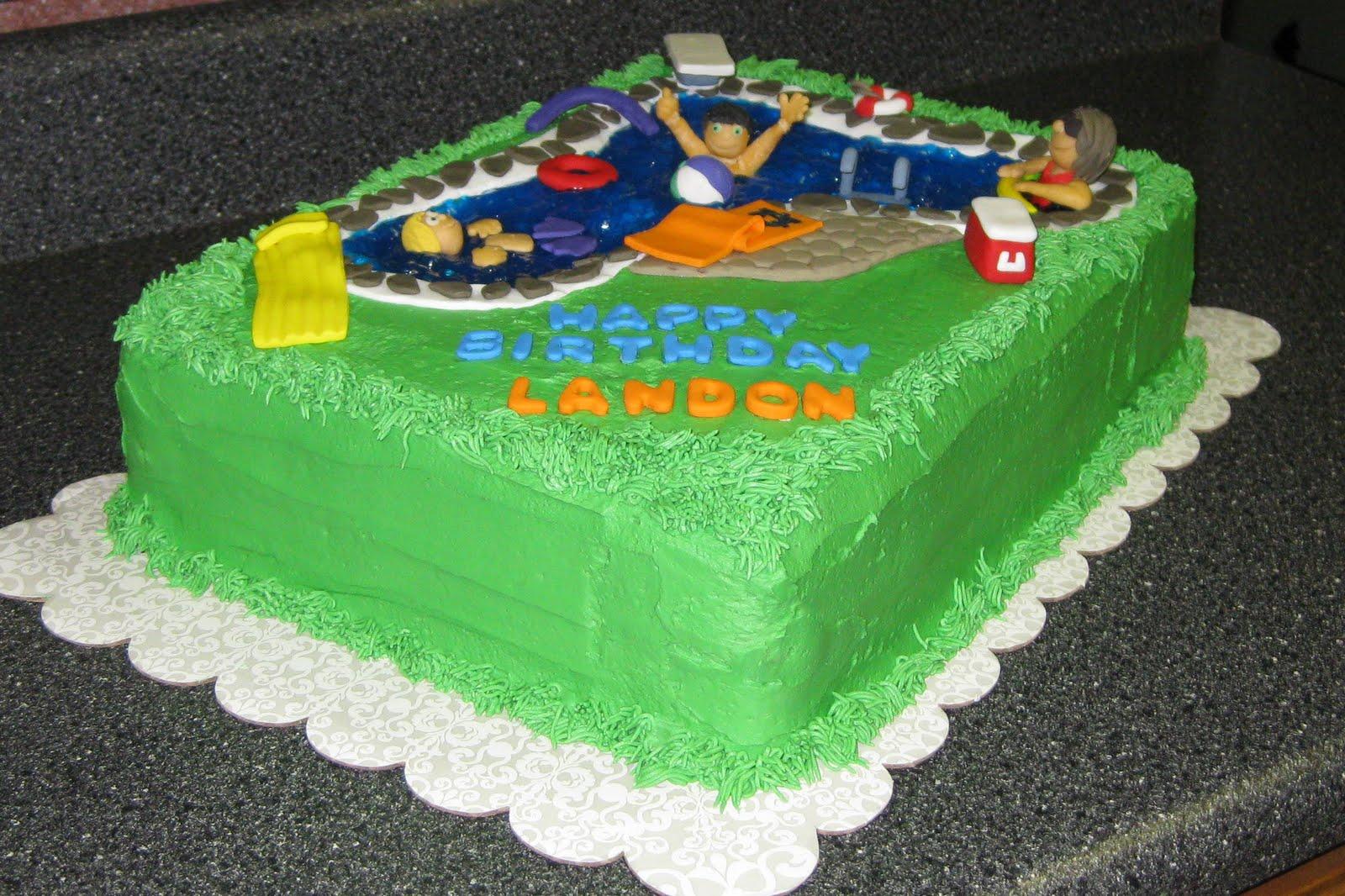 Sweet Memories Pool Cake