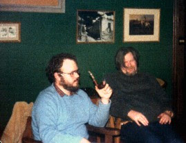 Me getting drunk with Van Ronk, 1980