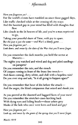 Aftermath by Siegfried Sassoon