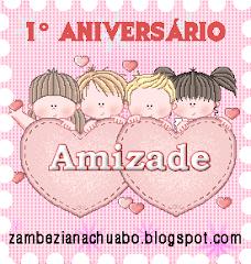 Selo Amizade de 1º Aniversário Blogue Zambeziana
