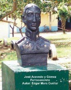 Figura en concreto ubicada en el Colegio José Acevedo y Gómez