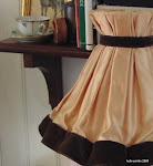 Silke og brunt fløjl på lampeskærmen