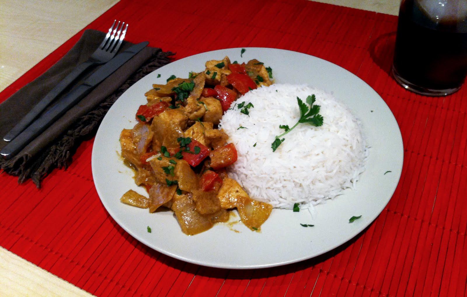 Pollo al curry hind mam ya s cocinar for Como cocinar pollo al curry