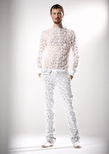 J&#39;ADORE: ALEXIS MABILLE SPRING 2008 TEXTURED LACE SHIRT AND MATCHING PANTS